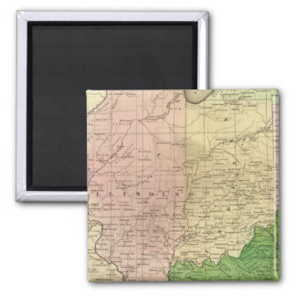 Mapa de Olney de los Estados Occidentales Imán Cuadrado