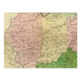 Mapa de Olney de los Estados Occidentales Postal