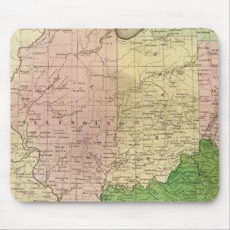 Mapa de Olney de los Estados Occidentales Tapetes De Raton