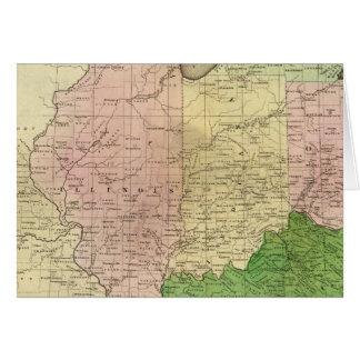Mapa de Olney de los Estados Occidentales Tarjeta De Felicitación