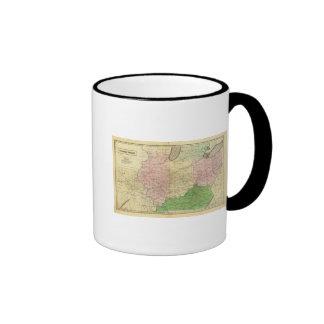 Mapa de Olney de los Estados Occidentales Taza De Dos Colores