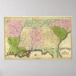Mapa de Olney de los estados sureños Impresiones