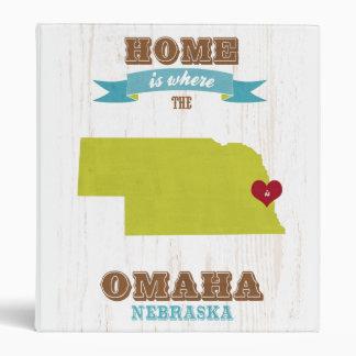 Mapa de Omaha Nebraska - casero es donde está el