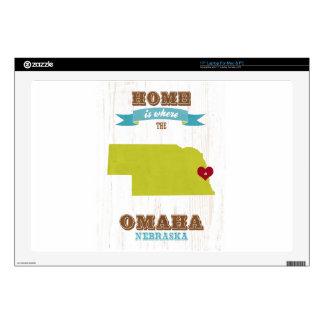 Mapa de Omaha, Nebraska - casero es donde está el  Skins Para Portátil