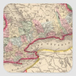 Mapa de Ontario de Mitchell Calcomanias Cuadradas