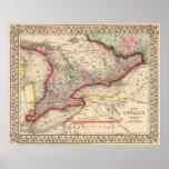 Mapa de Ontario de Mitchell Impresiones