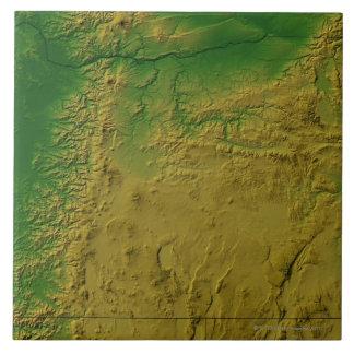 Mapa de Oregon Azulejo Cuadrado Grande