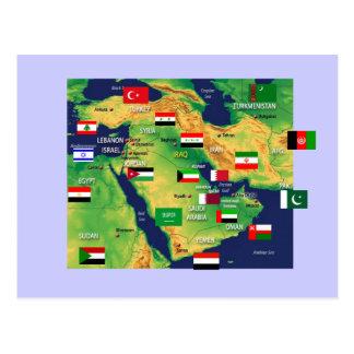 Mapa de Oriente Medio Postal