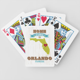 Mapa de Orlando, la Florida - casero es donde está Baraja