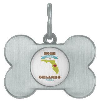 Mapa de Orlando, la Florida - casero es donde está Placas De Mascota