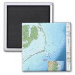 Mapa de Outer Banks Imán De Frigorifico
