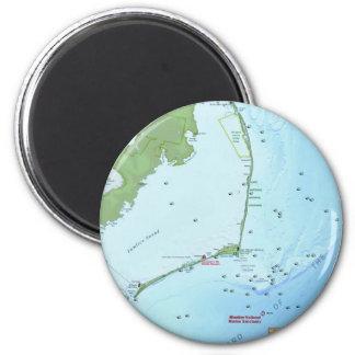 Mapa de Outer Banks Imán Redondo 5 Cm
