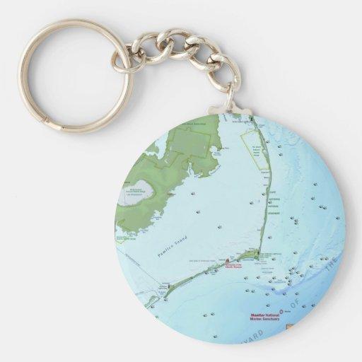 Mapa de Outer Banks Llavero Personalizado