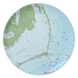 Mapa de Outer Banks Platos