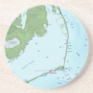 Mapa de Outer Banks Posavasos Para Bebidas