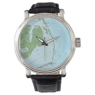 Mapa de Outer Banks Relojes De Mano