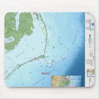 Mapa de Outer Banks Tapetes De Raton