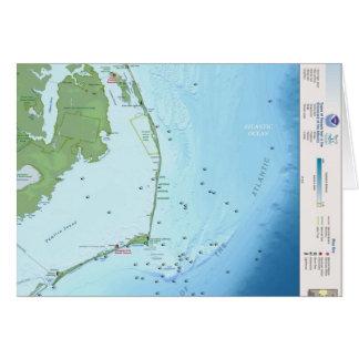 Mapa de Outer Banks Felicitación