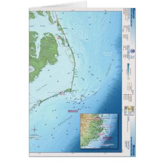 Mapa de Outer Banks Tarjeta De Felicitación