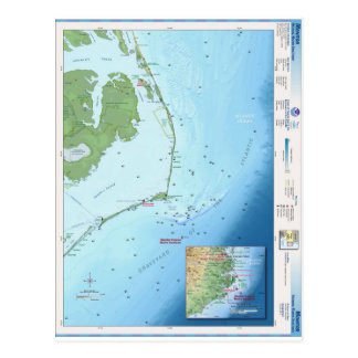 Mapa de Outer Banks Tarjetas Postales