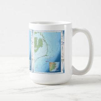 Mapa de Outer Banks Tazas
