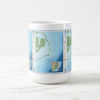 Mapa de Outer Banks Taza De Café