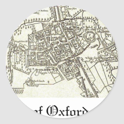 mapa de Oxford 1605.png Pegatina