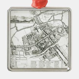 Mapa de Oxford, 1643 Adornos