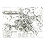 Mapa de Oxford, 1643 Tarjeta Postal