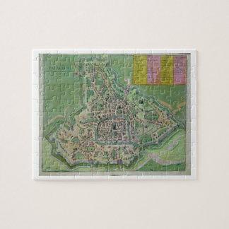 """Mapa de Padua, de """"Civitates Orbis Terrarum"""" por G Puzzles"""