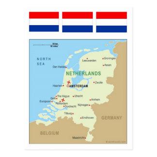 Mapa de Países Bajos Postales