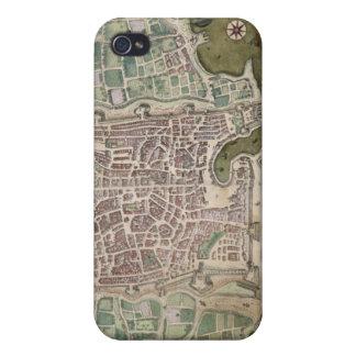 "Mapa de Palermo, de ""Civitates Orbis Terrarum"" cer iPhone 4 Funda"