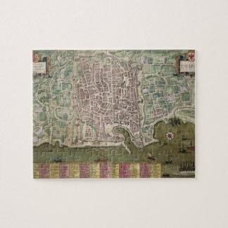 """Mapa de Palermo, de """"Civitates Orbis Terrarum"""" cer Puzzle Con Fotos"""