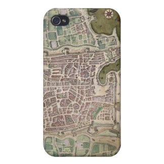 "Mapa de Palermo, de ""Civitates Orbis Terrarum"" iPhone 4 Funda"