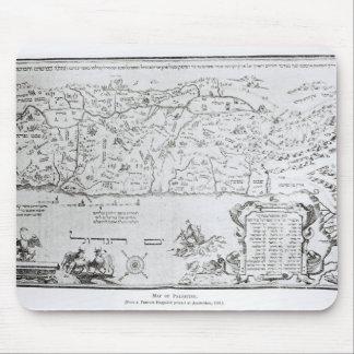 Mapa de Palestina, de un Haggadah del Passover Mousepads