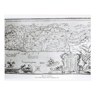Mapa de Palestina, de un Haggadah del Passover Postal