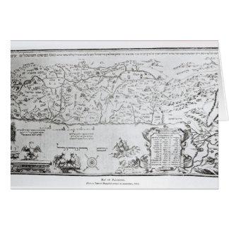 Mapa de Palestina, de un Haggadah del Passover Tarjeta De Felicitación