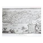 Mapa de Palestina, de un Haggadah del Passover Tarjetas Postales