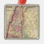 Mapa de Palestina, Jerusalén de Mitchell Adorno Navideño Cuadrado De Metal