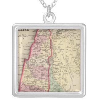 Mapa de Palestina, Jerusalén de Mitchell Colgante Cuadrado