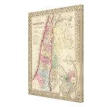 Mapa de Palestina, Jerusalén de Mitchell Impresión En Lienzo