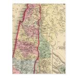 Mapa de Palestina, Jerusalén de Mitchell Postal