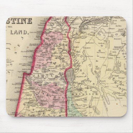 Mapa de Palestina, Jerusalén de Mitchell Alfombrillas De Ratones