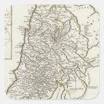 Mapa de Palestina Calcomania Cuadradas Personalizada