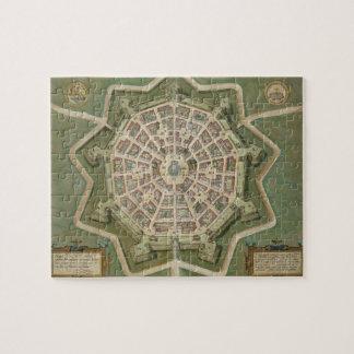 "Mapa de Palma, de ""Civitates Orbis Terrarum"" por G Rompecabeza"