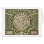 """Mapa de Palma, de """"Civitates Orbis Terrarum"""" por G Felicitación"""