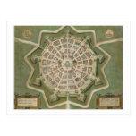 """Mapa de Palma, de """"Civitates Orbis Terrarum"""" por G Tarjetas Postales"""