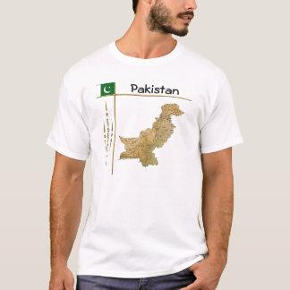 Mapa de Paquistán + Bandera + Camiseta del título