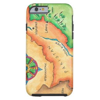 Mapa de Paquistán Funda Para iPhone 6 Tough