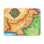Mapa de Paquistán Imán De Vinilo